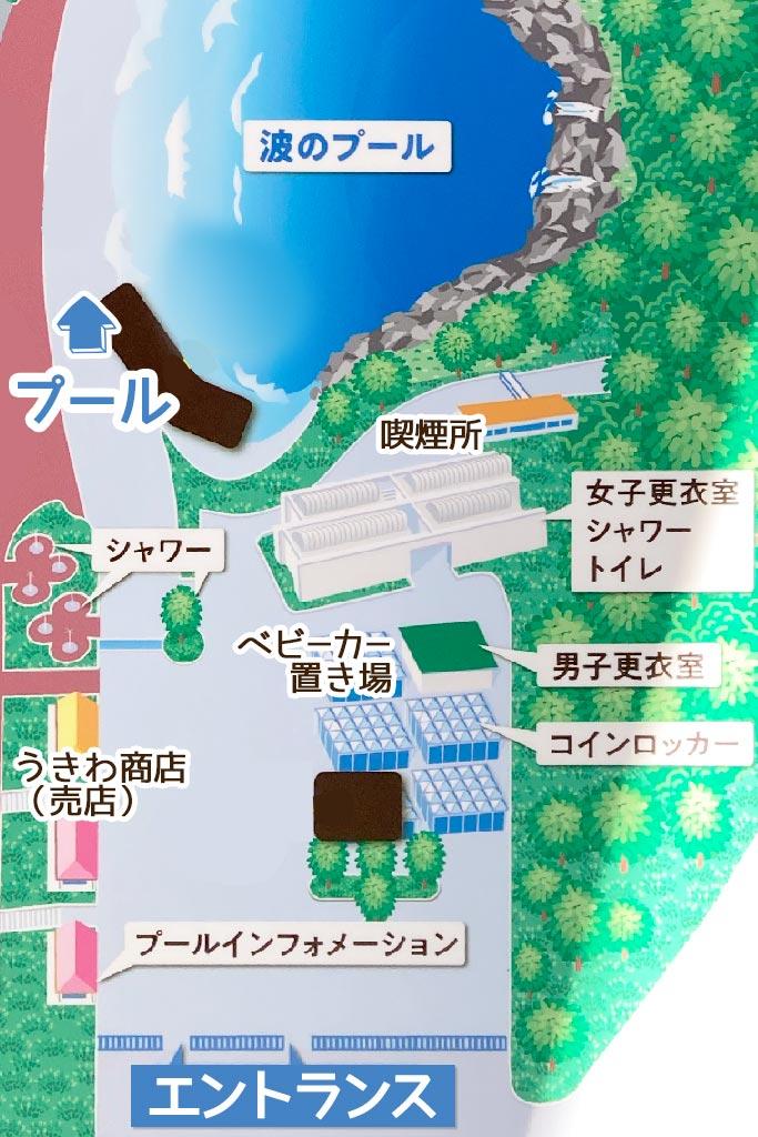入り口付近の地図