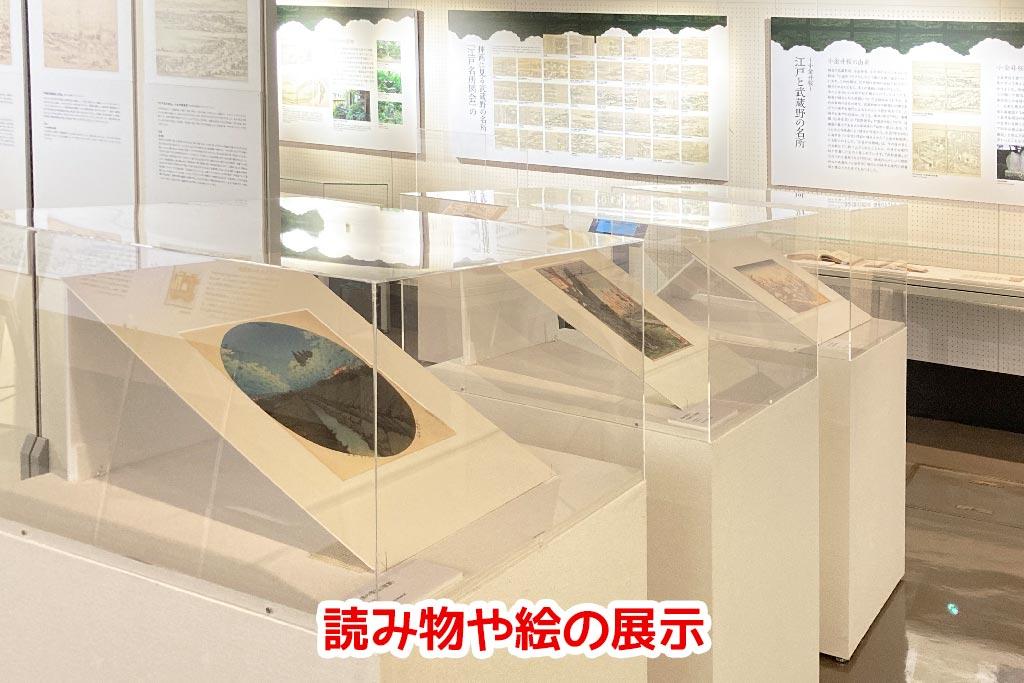 企画展「武蔵野の名所」室内